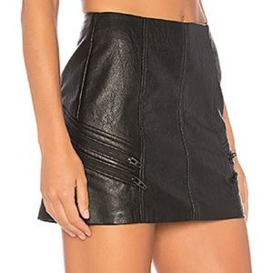 BLANK NYC SHIFT MINI SKIRT FAUX LEATHER 28 NWT